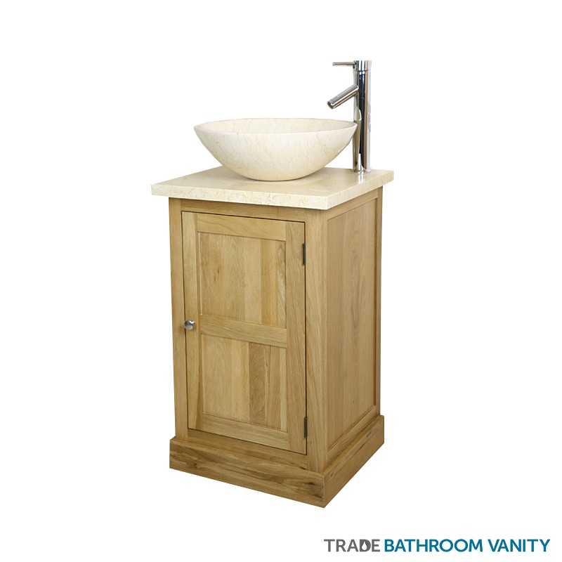 500mm marble vanity unit beige tbv09 bm trade bathroom vanity - Marble vanity units ...